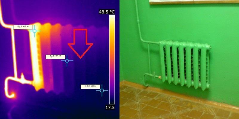 картинка с тепловизора батарея